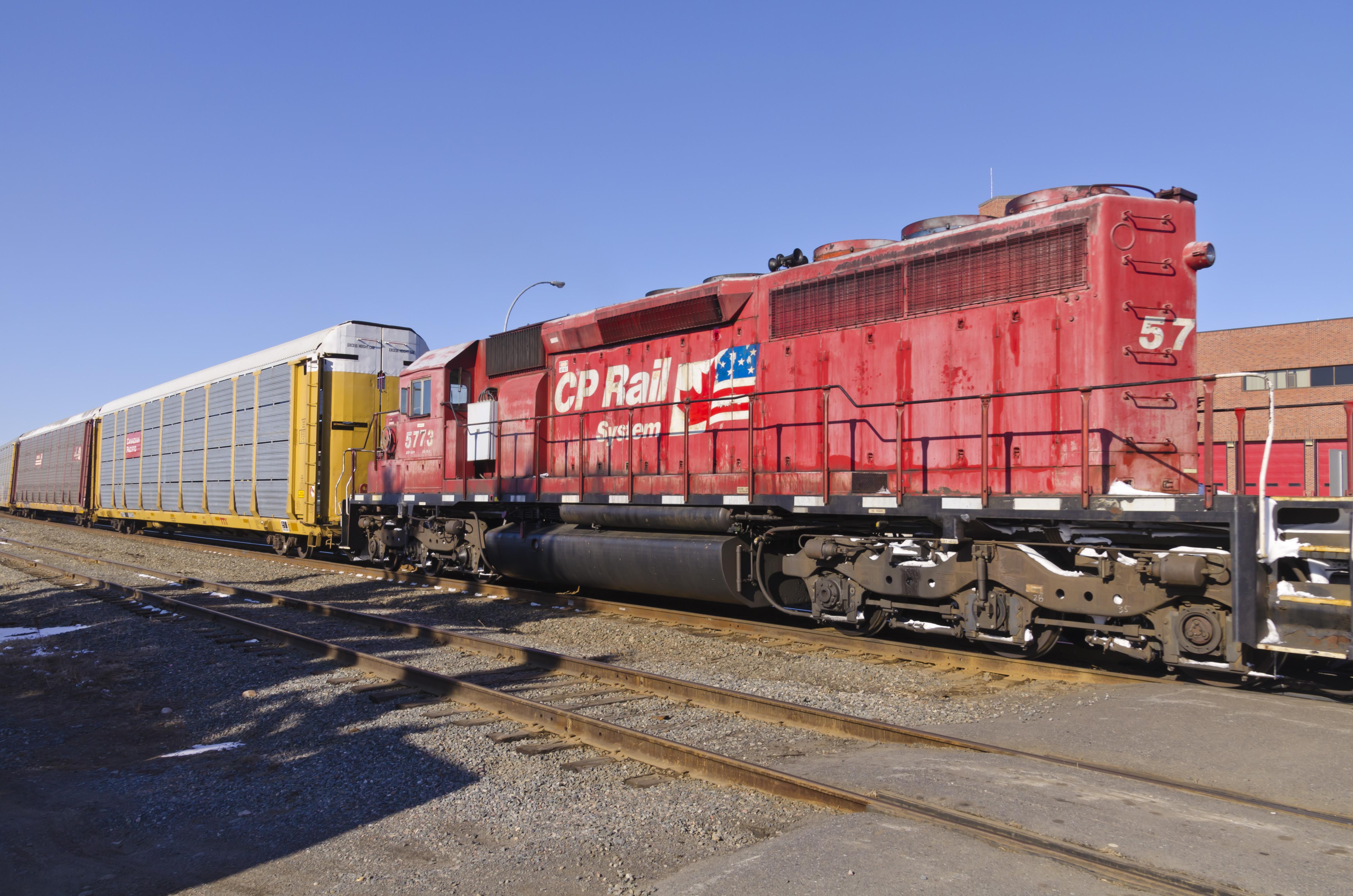 Canadian Pacific Railway (CP) #5773. Diesel Locomotive EMD SD40-2, 2 Apr  2013