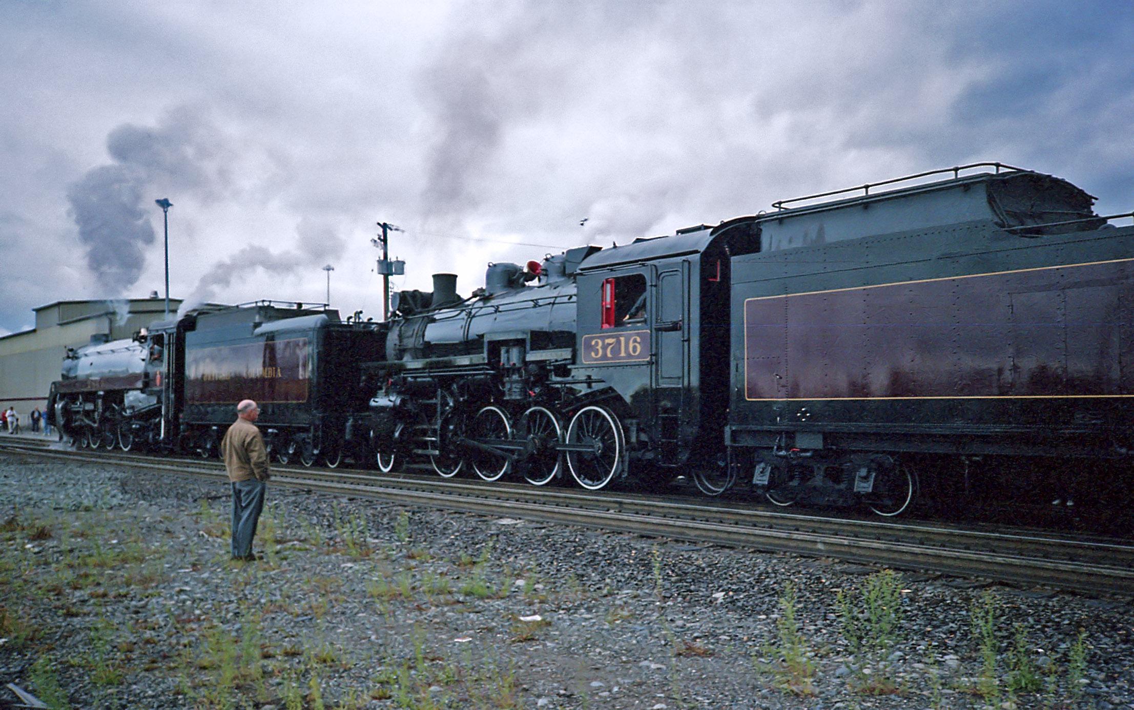 Canadian Pacific Railway CP #2860 4-6-4 steam locomotive ... Pacific Railway Company