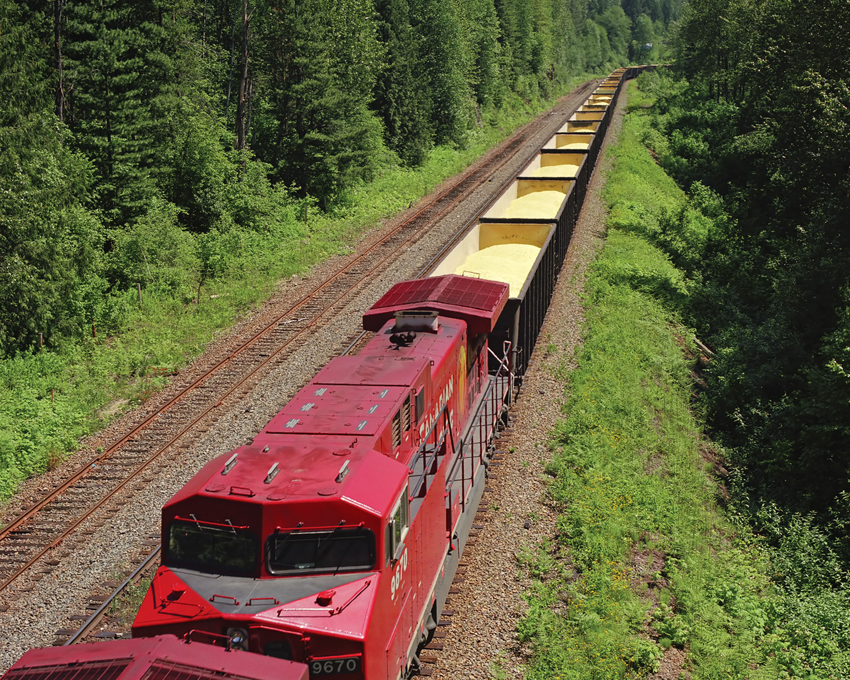 The canadian is via rail canadas flagship train it runs between toronto and vancouver three times a week traveling