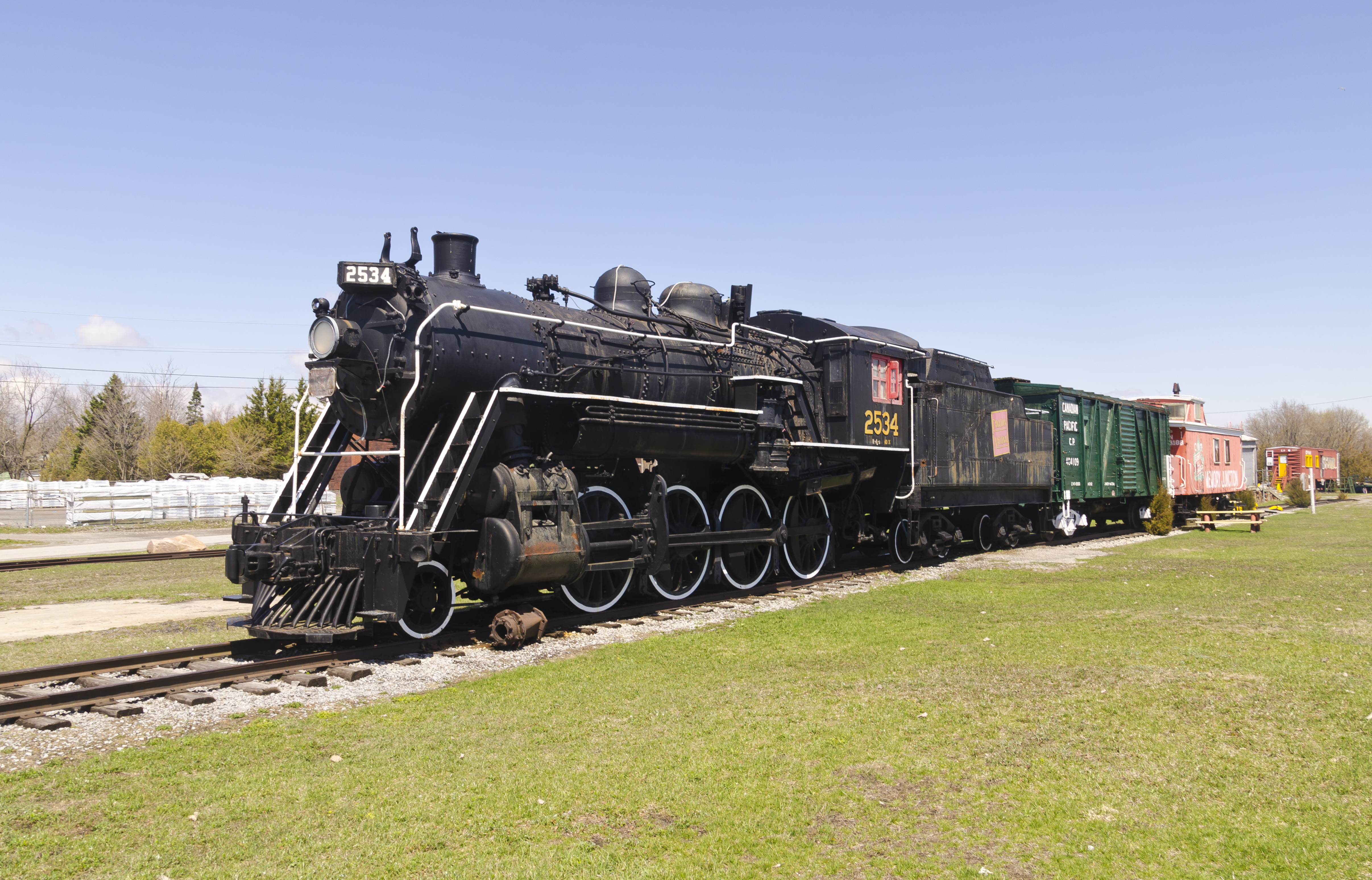 Canadian National Railway (CN) #2534. Steam Locomotive 2-8-0, 1 May 2014