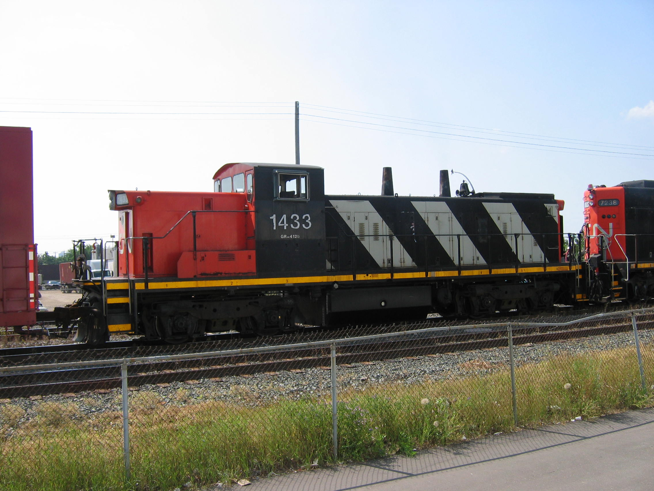 Canadian National Railway (CN) #1433. Diesel Locomotive EMD GMD1, 23 Jul  2004