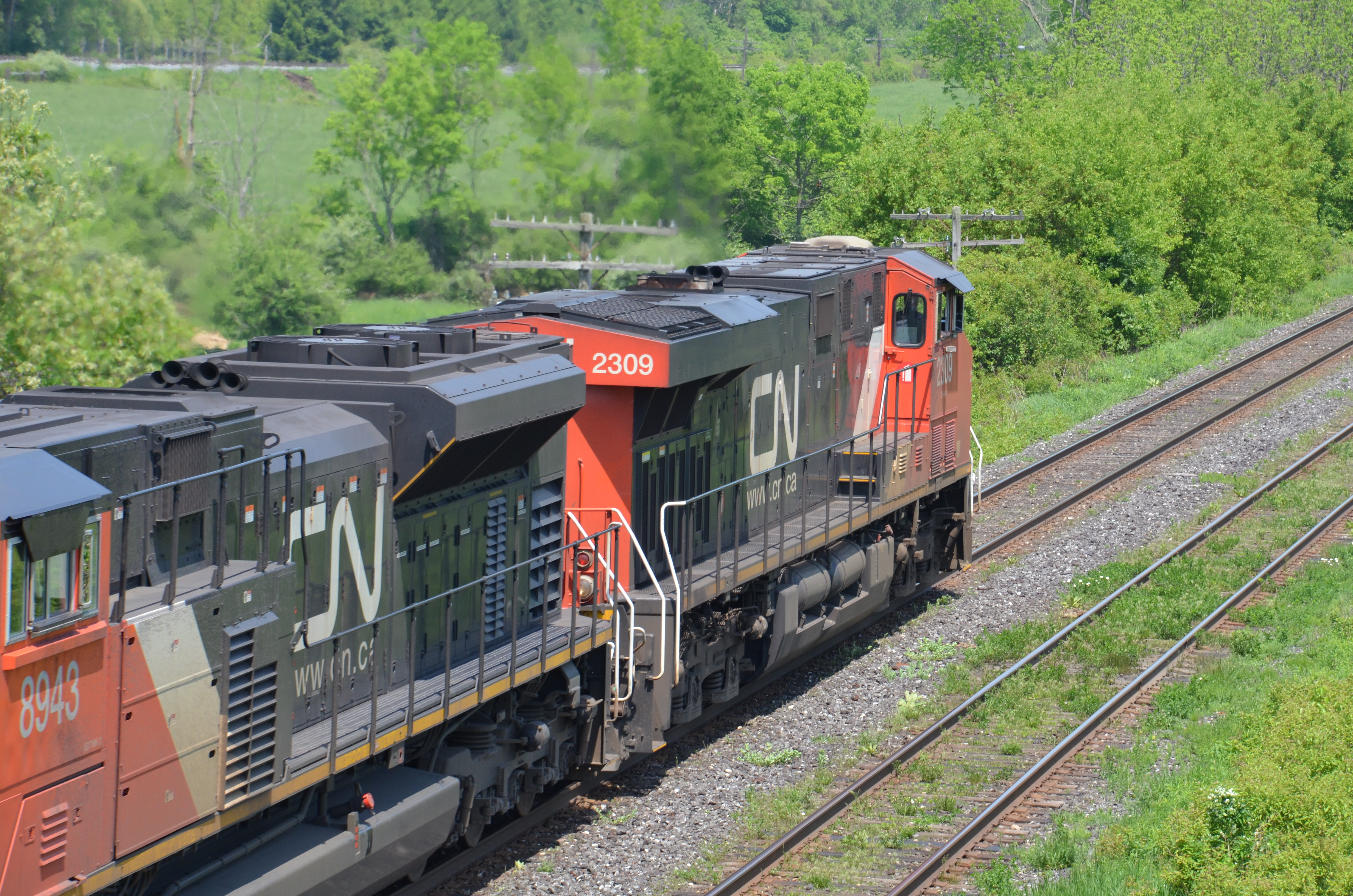 Canadian National Railway (CN) #2309. Diesel Locomotive GE ES44DC, 30 May  2011