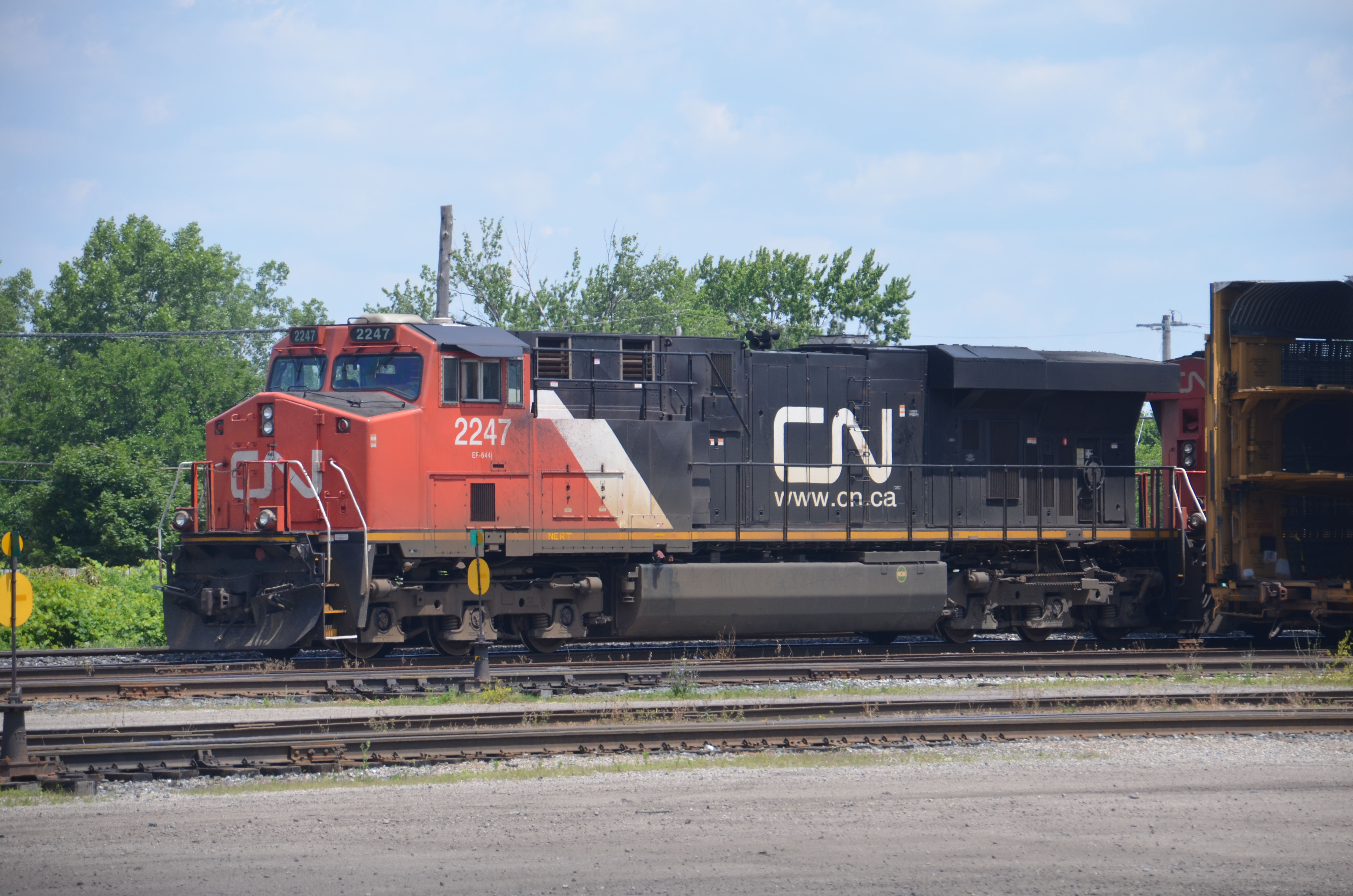 Canadian National Railway (CN) #2247. Diesel Locomotive GE ES44DC, 9 Jul  2011