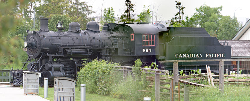 Canadian Pacific Railway (CP) #894 Steam Locomotive 4-6-0, 23 Jul 2017