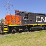 Canadian National Railway #7243 EMD GP9 Diesel Locomotive (18 Jul 2012)